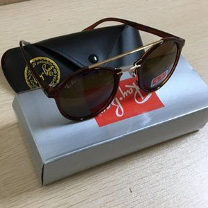 RAY-BAN RB4266 Brown ROUND SUNGLASSES